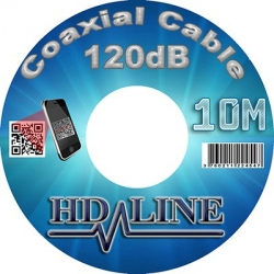 10M HD-LINE câble coaxial pro 120dB TNT & antenne parabole