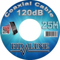 25M HD-LINE câble coaxial pro 120dB TNT & antenne parabole