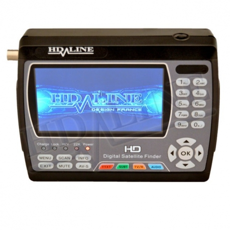 HD-LINE HD-900 ORIGINAL POINTEUR SATELLITE / TERRESTRE HD appareil de mesure parabole HD