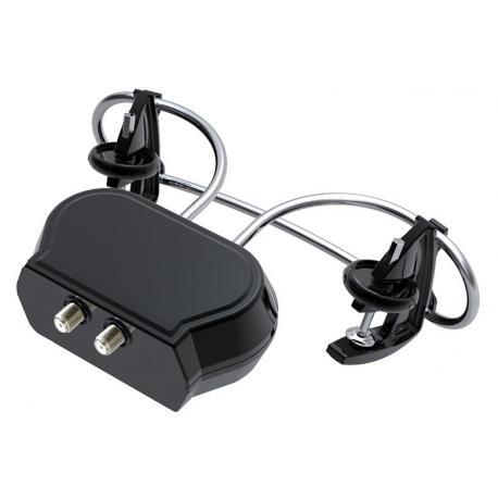 HD-910T - Antenne TV Clip-On UHF Amplifiée - Montage sur parabole