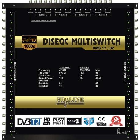 HD-LINE PRO MULTISWITCH 17/32 - 4SAT - 1TER / 32DEMOS