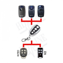 Telecommande compatible Ditec, V2 , Nice Flor-s 433 MHZ