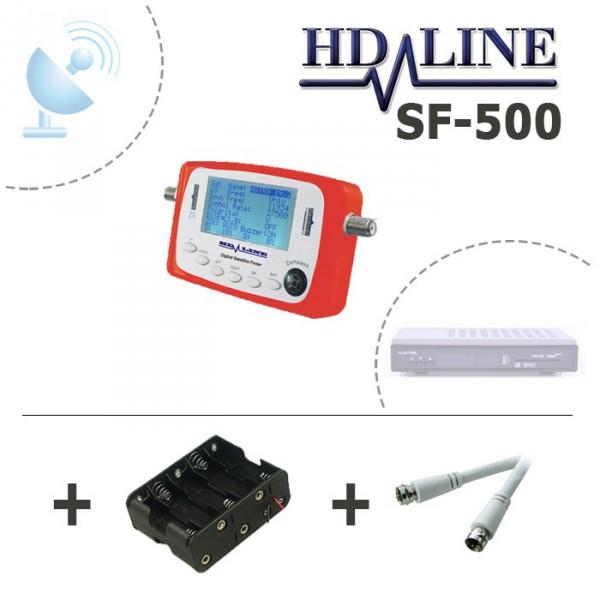 hd line sf 500 digital satfinder pointeur satellite finder r glage parabole hdline. Black Bedroom Furniture Sets. Home Design Ideas