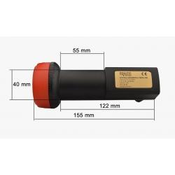 HD-LINE LNB twin pro 62db - 0.1DB - 1 tête parabole 2 sorties