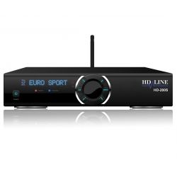 HD-200S Demodulateur satellite FTA Full HD 1080p IPTV WiFi LAN USB Lecteur de carte CA - Mediaplayer