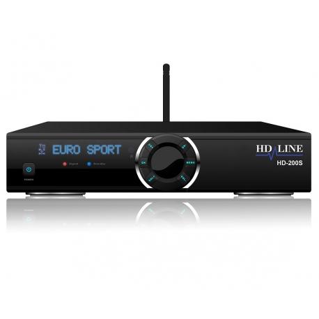 HD-200S Demodulateur satellite FTA Full HD 1080p IPTV WiFi LAN USB Lecteur de carte CA - Mediaplayer