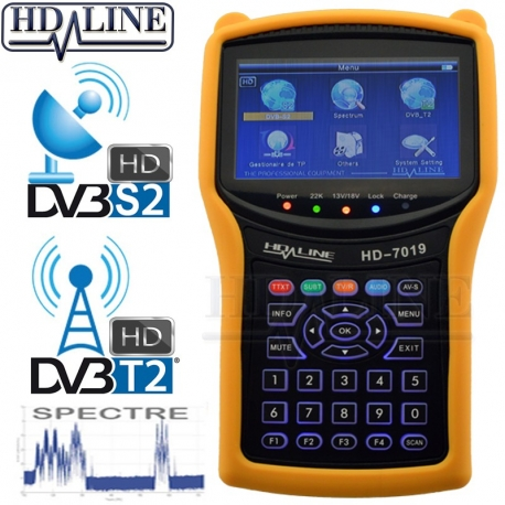 HD-LINE HD-7019 V2 COMBO DVB-S2 / DVB-T2 + Spectre HD