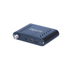 HD-LINE HD-120 Mini démodulateur satellite FTA coque alu 220V 12V Bip signal HDMI USB Déport IR