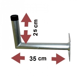 Fixationb murale pour antennes et paraboles 25X25 48mm